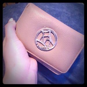 Beige 4 compartment wallet